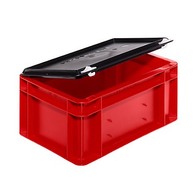 Verschluss-Deckel - für LxB 300 x 200 mm - schwarz, VE 5 Stk