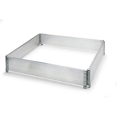 Aluminium-Aufsatzrahmen, VE 2 Stk, für Paletten 1200 x 800 mm