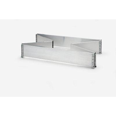 Aluminium-Aufsatzrahmen, VE 2 Stk, für Paletten 1200 x 1000 mm