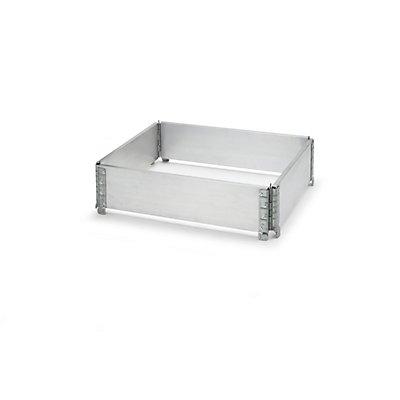 Aluminium-Aufsatzrahmen, VE 2 Stk, für Paletten 800 x 600 mm mit 4 Scharnieren, ab 1 VE