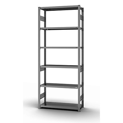 hofe System-Steckregal, Bauart mittelschwer - Regalhöhe 2500 mm