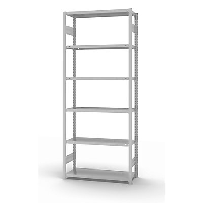 hofe System-Steckregal, Ausführung leicht, kunststoffbeschichtet - Regalhöhe 2500 mm