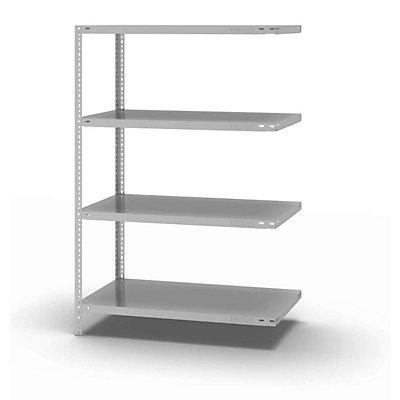 hofe Schraubregal, Bauart leicht, kunststoffbeschichtet - Regalhöhe 1500 mm, Bodenbreite 1000 mm