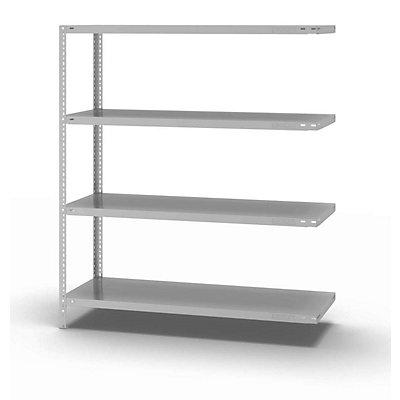 hofe Schraubregal, Bauart leicht, kunststoffbeschichtet - Regalhöhe 1500 mm, Bodenbreite 1300 mm