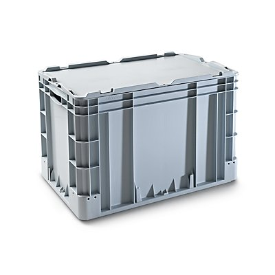 VECTURA Stapelbehälter aus Polypropylen - Inhalt 80 l, Außenmaße LxBxH 600 x 400 x 420 mm