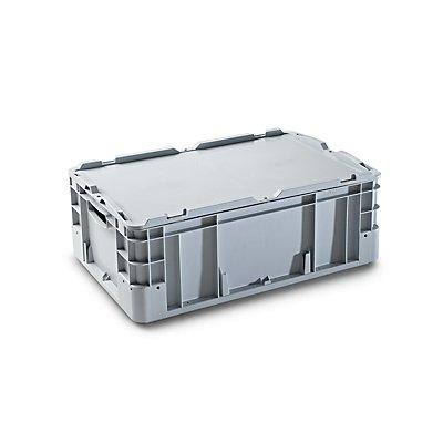 VECTURA Stapelbehälter aus Polypropylen - Inhalt 40 l, Außenmaße LxBxH 600 x 400 x 220 mm