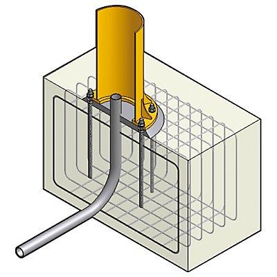Ankerschraube mit Fundamentschablonen, für Fundament ab 900 x 900 mm für Tragfähigkeit 125 kg, 250 kg, für ASSISTENT und PRAKTIKUS