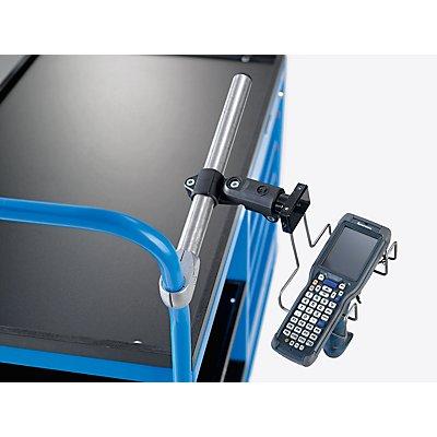 EUROKRAFT Support Premium pour scanner - avec fixation tubulaire - pour diamètre 26-33 mm