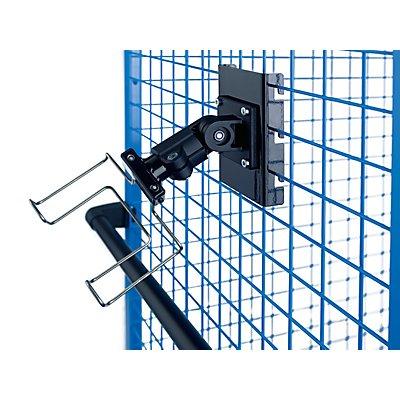 EUROKRAFT Premium-Scannerhalter - mit Gitterbefestigung - für Maschenweite 50 und 100 mm