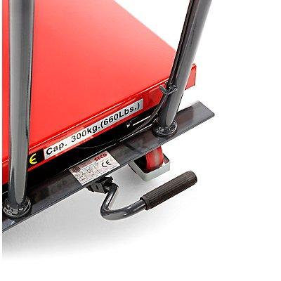 Hub-Plattformwagen, Hubbereich 390 – 910 mm Tragfähigkeit 500 kg
