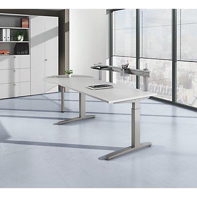 HAMMERBACHER ANNY Schreibtisch mit C-Fußgestell, höhenverstellbar 650 – 850 mm, Breite 1800 mm