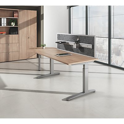 office akktiv ANNY Schreibtisch mit C-Fußgestell, höhenverstellbar 650 – 850 mm, Breite 1800 mm