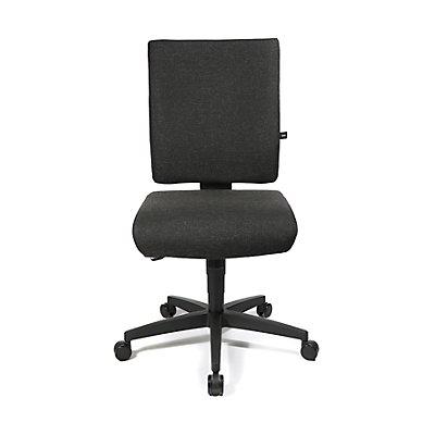 Topstar Bürodrehstuhl, Punktsynchron-Mechanik und Flachsitz, Höhenverstellbare Rückenlehne