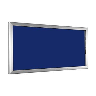 Schaukasten - für 24 x DIN A4 - enzianblau