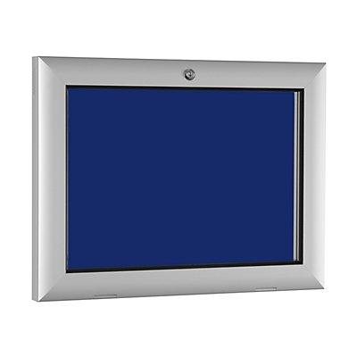 Flachschaukasten - für 2 x DIN A4 - enzianblau