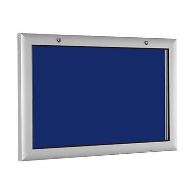 Flachschaukasten - für 3 x DIN A4 - enzianblau