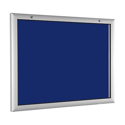 Flachschaukasten - für 8 x DIN A4 - enzianblau