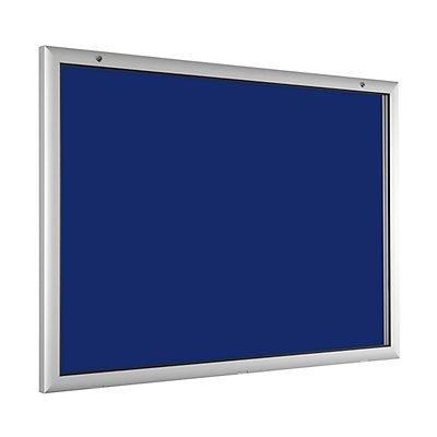 Flachschaukasten - für 18 x DIN A4 - enzianblau
