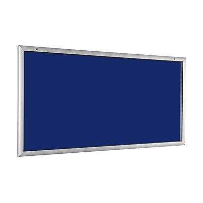 Flachschaukasten - für 24 x DIN A4 - enzianblau