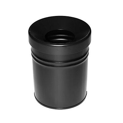 Abfallbehälter, selbstlöschend, Volumen 16 l, HxØ 340 x 245 mm