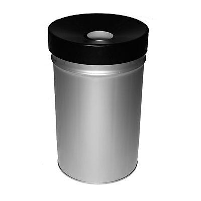 Abfallbehälter, selbstlöschend, Volumen 60 l, HxØ 630 x 392 mm