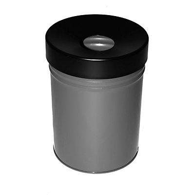 Abfallbehälter, selbstlöschend, Volumen 24 l, HxØ 370 x 295 mm