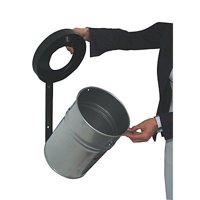 Wandabfallbehälter, abschließbar, Volumen 24 l, HxØ 370 x 295 mm