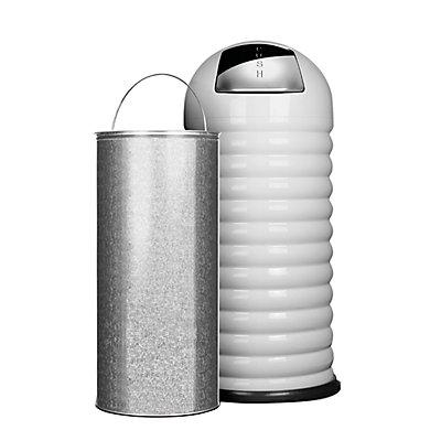 Abfallbehälter PUSH, Volumen 52 l, HxØ 900 x 380 mm