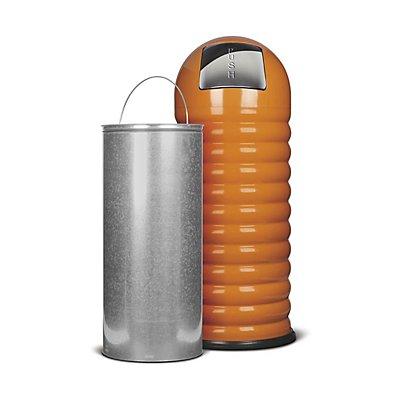 Abfallbehälter PUSH, Volumen 40 l, HxØ 840 x 320 mm