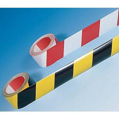 Selbstklebendes Warn- und Markierungsband - Farbe rot / weiß