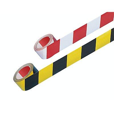MORAVIA Selbstklebendes Warn- und Markierungsband - Farbe rot / weiß