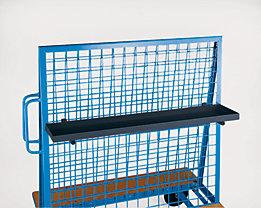 Materialkasten - Tragfähigkeit 50 kg - LxBxH 1200 x 250 x 40 mm, anthrazit