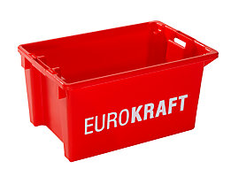 Drehstapelbehälter - Volumen 50 l, VE 3 Stk - rot