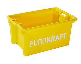 Drehstapelbehälter - Volumen 50 l, VE 3 Stk - gelb