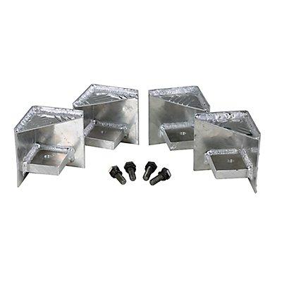 Palettenfüße - für Riffelblechboxen, VE 4 Stück - inkl. Befestigungsmaterial