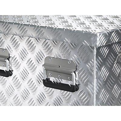 Alu-Transportkiste Riffelblech - 312 l Inhalt - LxBxH 1276 x 525 x 520 mm