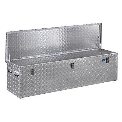 Caisse de transport en tôle striée d'aluminium - capacité 470 l - L x l x h 1896 x 525 x 520 mm