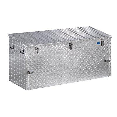 Caisse de transport en tôle striée d'aluminium - capacité 250 l