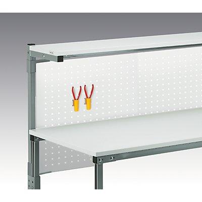 Halterset für Lochplatte - an Arbeitstisch TPH - mit Etagenbord