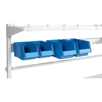 TRESTON Sichtlagerkasten-Set - für Arbeitstisch - blau, VE 4 Stück
