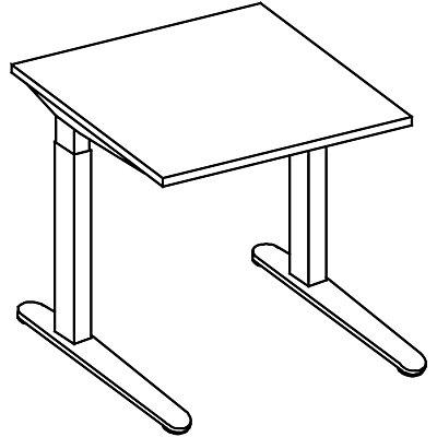 HAMMERBACHER ANNY Schreibtisch mit C-Fußgestell, höhenverstellbar 650 – 850 mm, Breite 800 mm