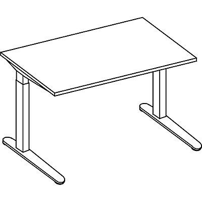 HAMMERBACHER ANNY Schreibtisch mit C-Fußgestell, höhenverstellbar 650 – 850 mm, Breite 1200 mm