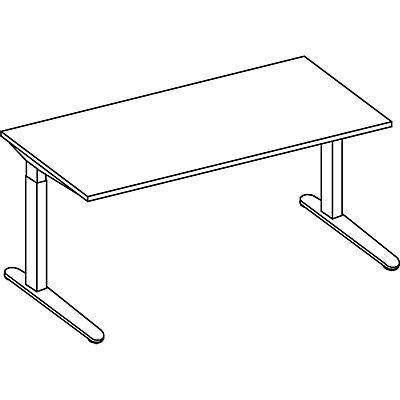 HAMMERBACHER ANNY Schreibtisch mit C-Fußgestell, höhenverstellbar 650 – 850 mm, Breite 1600 mm