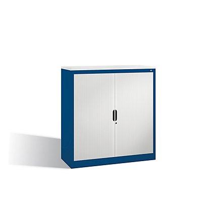 CP Rollladenschrank mit Horizontal-Jalousie - HxBxT 1230 x 1200 x 420 mm, 2 Fachböden, 3 Ordnerhöhen