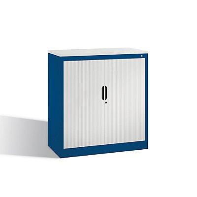 CP Rollladenschrank mit Horizontal-Jalousie - HxBxT 1030 x 1000 x 420 mm, 2 Fachböden, 2,5 Ordnerhöhen