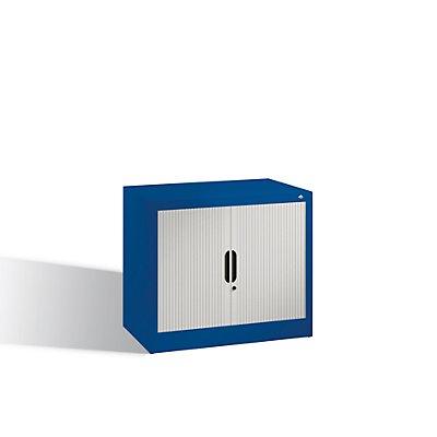 CP Rollladenschrank mit Horizontal-Jalousie - HxBxT 720 x 800 x 420 mm, 1 Fachboden, 1,5 Ordnerhöhen