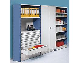 Regal-Schrank-System mit Rück- und Seitenwänden bei Certeo.at