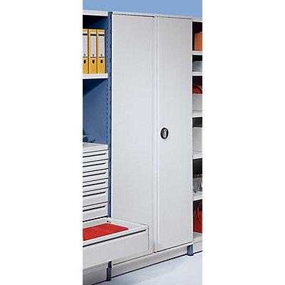 steelo Flügeltür-Anbausatz - für Regalhöhe 1960 mm - lichtgrau