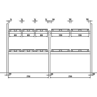 SLP Palettenregal-Auflagetraversen - Traversenlänge 2700 mm, 1 Paar