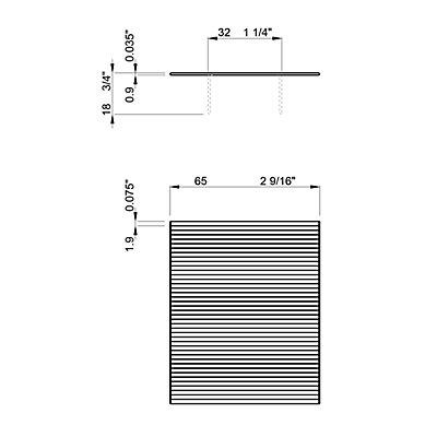Rollenheftklammern, VE 20000 Stk, Rückenbreite 32 mm